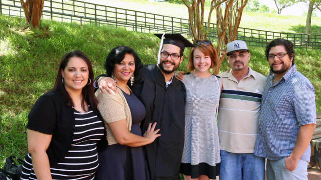 My family at graduation.